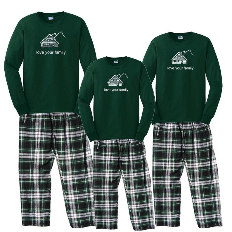 4801596735 Family Matching Pajamas Cabin Mountain Retreat - PJs for the family - Love  Your ... Family Matching Pajamas Cabin Mountain Retreat - PJs for the family  ...