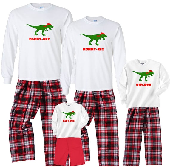 6598165e72 DINOSAUR Personalized Holiday Family Christmas Pajamas for
