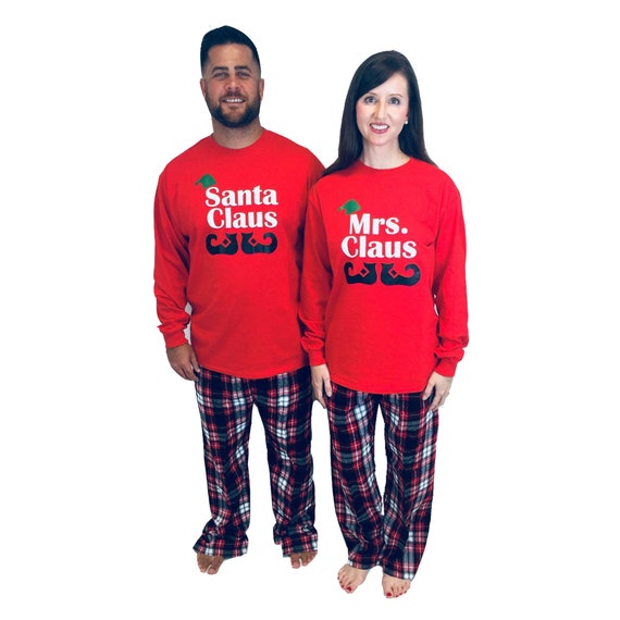 couples matching christmas pajamas - 570×570