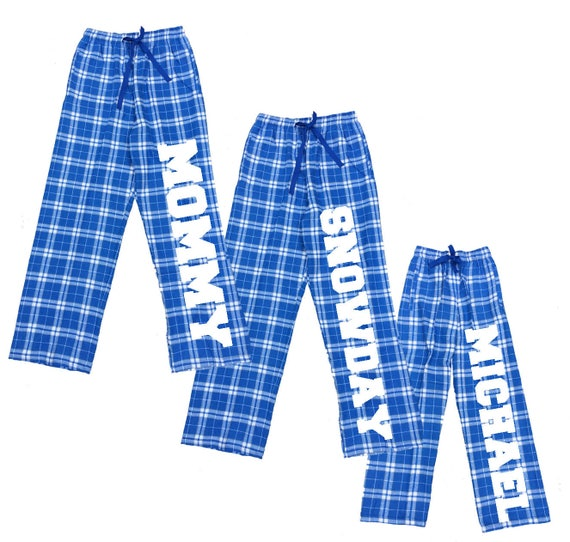 Personalized Family Pajama Pants in Royal Custom Text to  a1ac2531a
