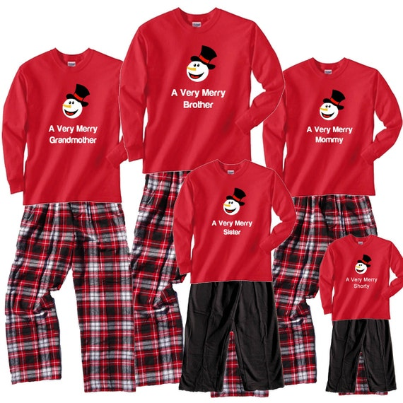 image 0 - Personalized Christmas Outfits For The A Very Merry Snowman Etsy