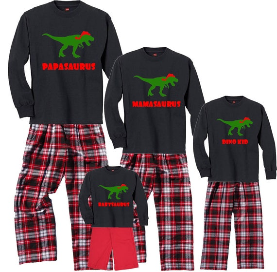 07b5cb9944 Personalized DINO Family Christmas Pajamas for Adults