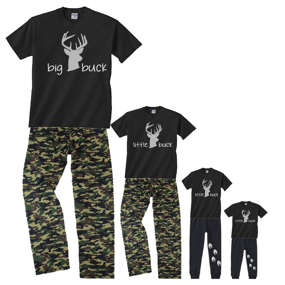 BIG Buck LITTLE Buck Father Son Child Matching Pajamas with  db4230f8f