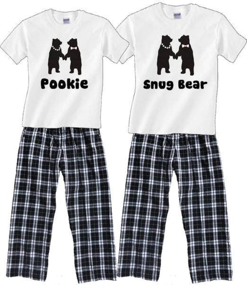 4ca8fee738 Personalized Dancing Bears Matching Family Pajamas for