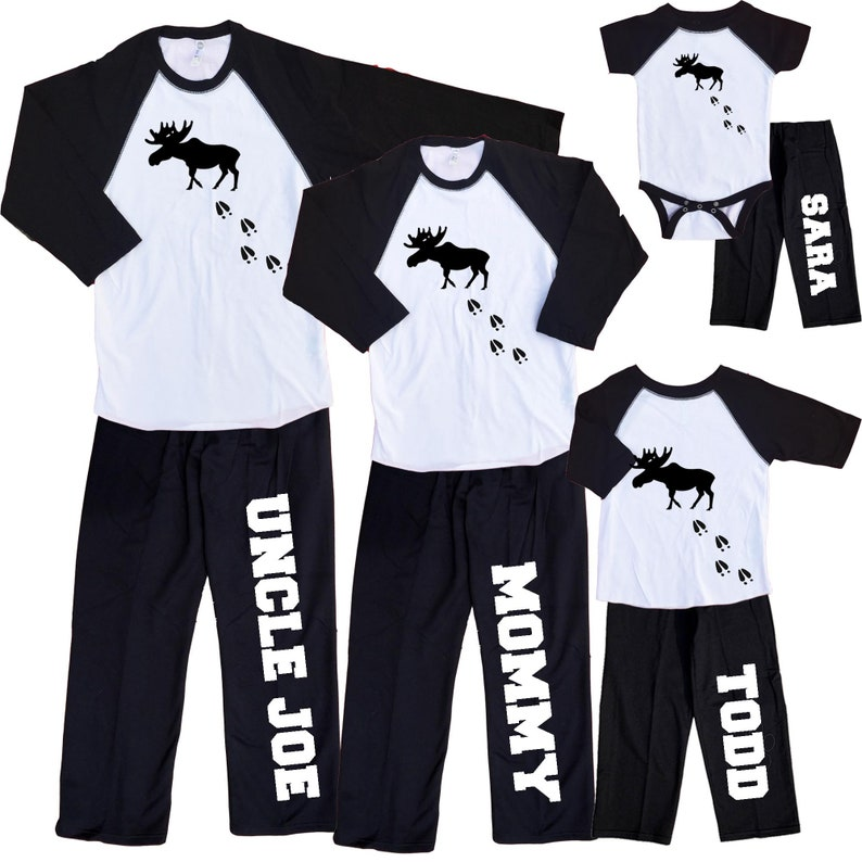 Personalized Cozy Pants Moose Tracks White and Black Pants  532b91137