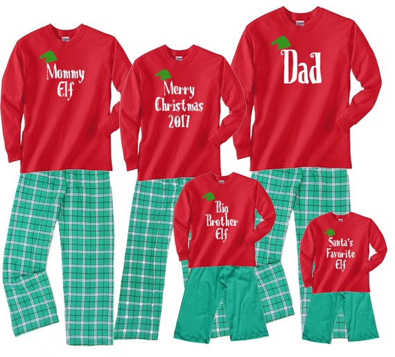 8ac908560560 Personalized Custom Text Family Matching Christmas Pajamas
