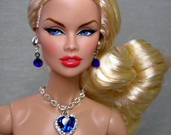 """Set jewelry """"TITANIC"""" for dolls Fashion Royalty/Poppy Parker - necklace, earrings"""
