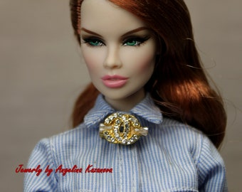 "Nu Face Pin-brooch for dolls Fashion Royalty Barbie and other dolls 10/""-20/"""