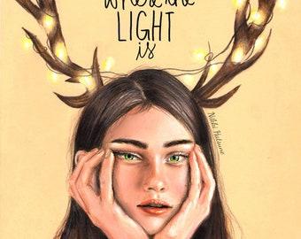 Keep Me Where The Light Is - Art Print (FREE SHIPPING)