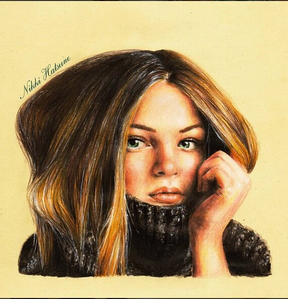 Portrait Au Crayon Personnalise Realiste Couleur Dessin Etsy