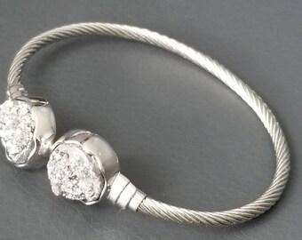 Cuff quartz silver Crystal