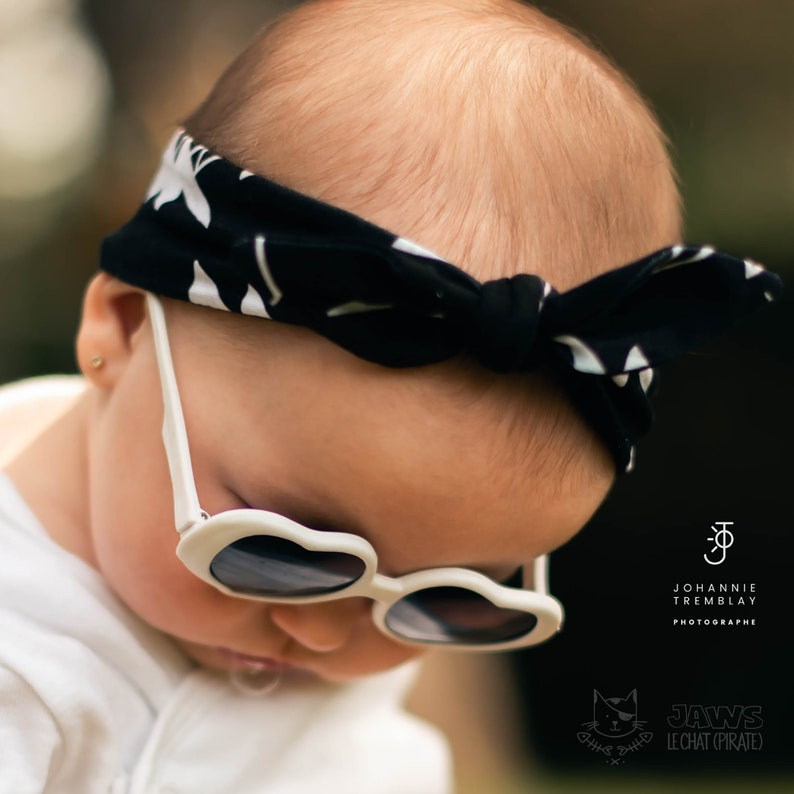 Coral  SALE INVENTAIRE Headband 6-12 MONTHS Cool Cat