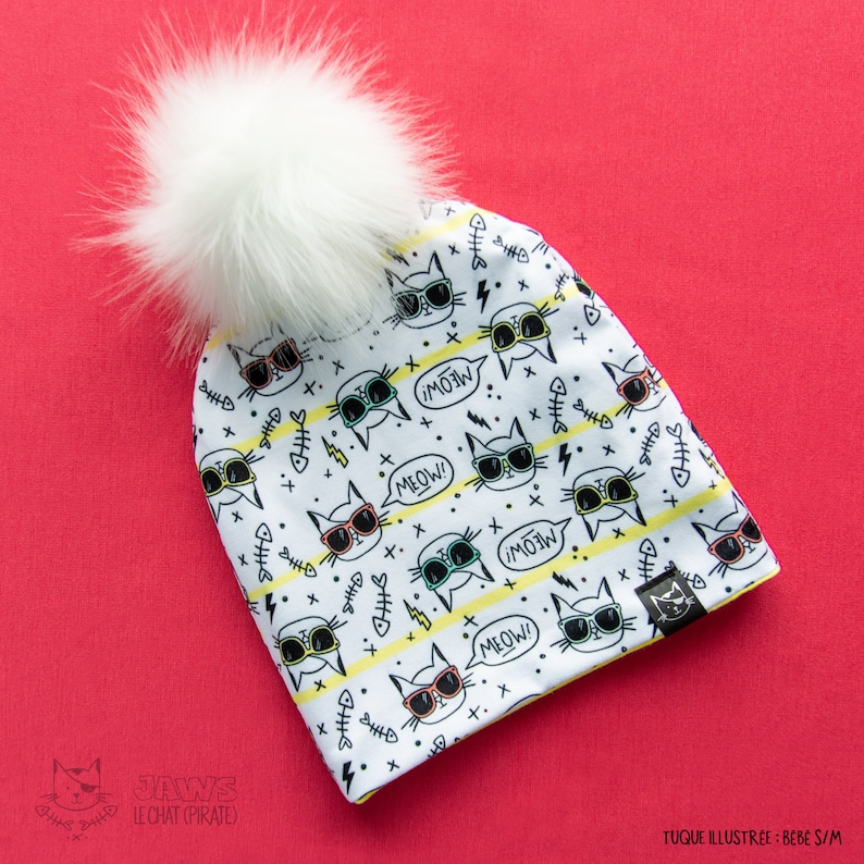 TUQUE with pompom  baby child and adult / Cool image 0