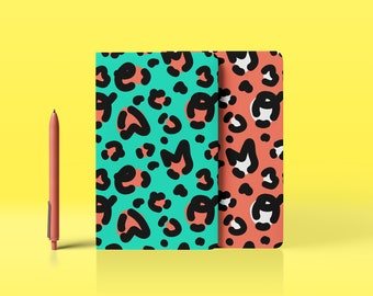 """Notebook / Journal / Notebook - """"Leopard-Meow""""- 2 sizes /4 page options."""