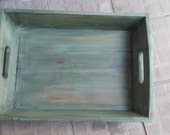 Custom hand-painted Wooden Tray
