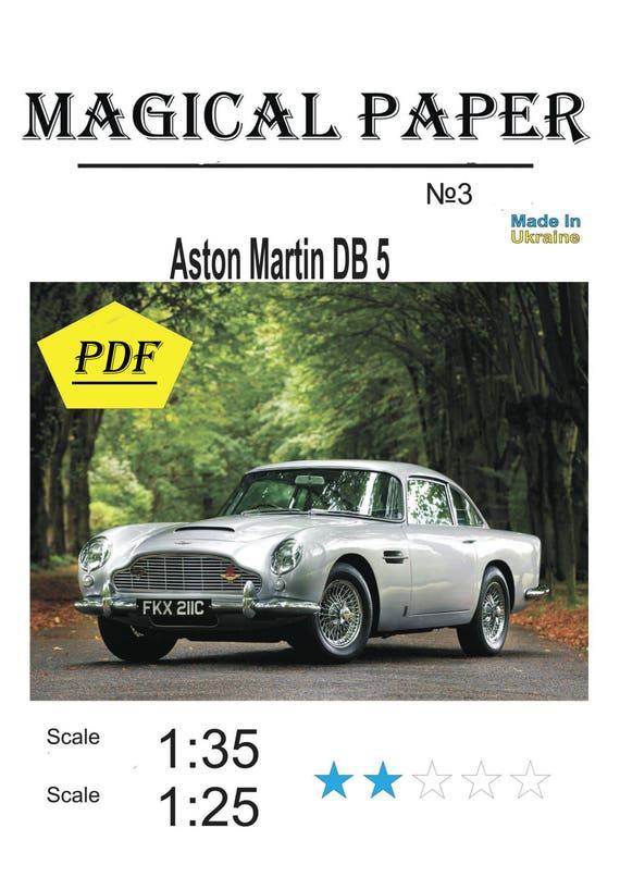 Paper Model Kit Aston Martin Db D ModelPDF PRINTED Etsy - Aston martin db5 kit car