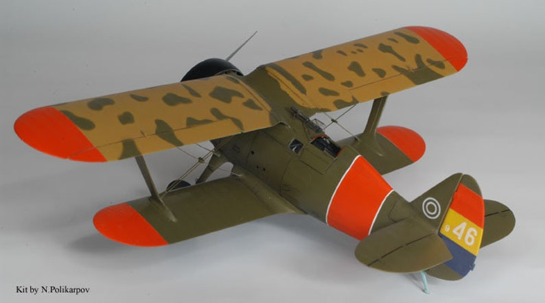 The I-15 fighter,paper model kit diy how to make origami 3D paper craft model printable,aircraft pepakura kit