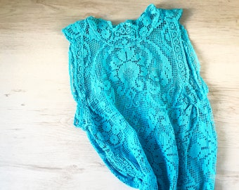 0c52b283d3d RESERVED for Malika  Blue crochet long dress vintage