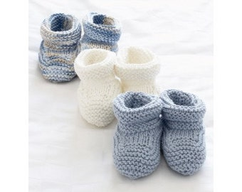 Knitting pattern baby booties/ PDF
