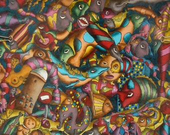 "Painting ""Underwater fish seal"""