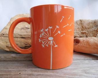 Dandelion  Engraved Mug - Coffee cup - Personalized Gift - Funny mug - Birthday