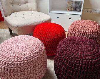 Lilac Pouf, pouf ottoman, pouf cover, pouffe, pouf chair, coffee table, custom, nursery decor, handmade gifts