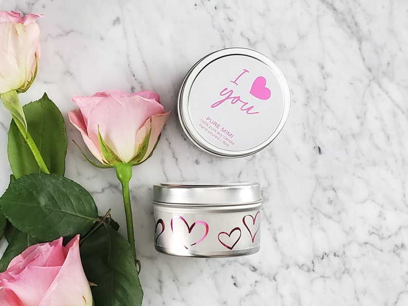 Candle Lovers Gift Valentines Gift for Him Valentines Gift for Her Valentines Decoration Valentine Love Message Candle