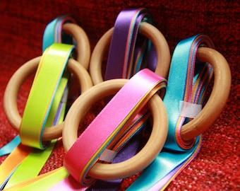 Dancing Rainbow Ribbon Rings