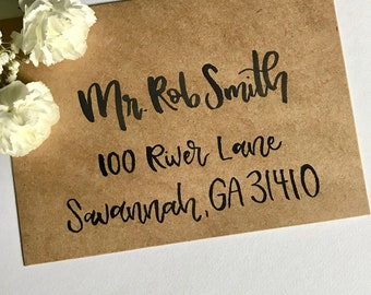 Custom Hand Lettered Envelopes   Custom Calligraphy   Wedding Envelopes   Party Envelopes   Envelopes   Wedding Stationary