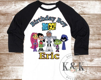 df26973022e6 Teen Titans Custom Birthday Shirt
