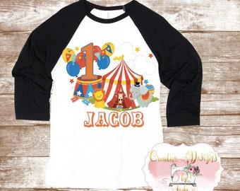 Circus/ Carnival Birthday Shirt, Custom Shirt
