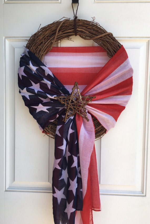 Items Similar To Traditional Colored American Flag Scarf
