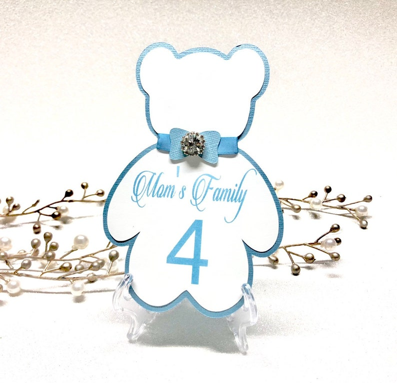 c54a049d3a328d Teddy bear table numbers baby shower table numbers teddy