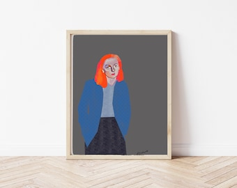 Abstract Poster|Modern Girl|Abstract Art|Woman Painting|Abstract Bedroom Wall Art Decor