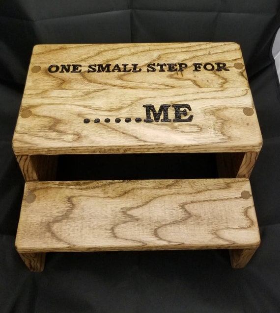 Personalized Adult Step Stool Two Step Wood Stool Wood Etsy