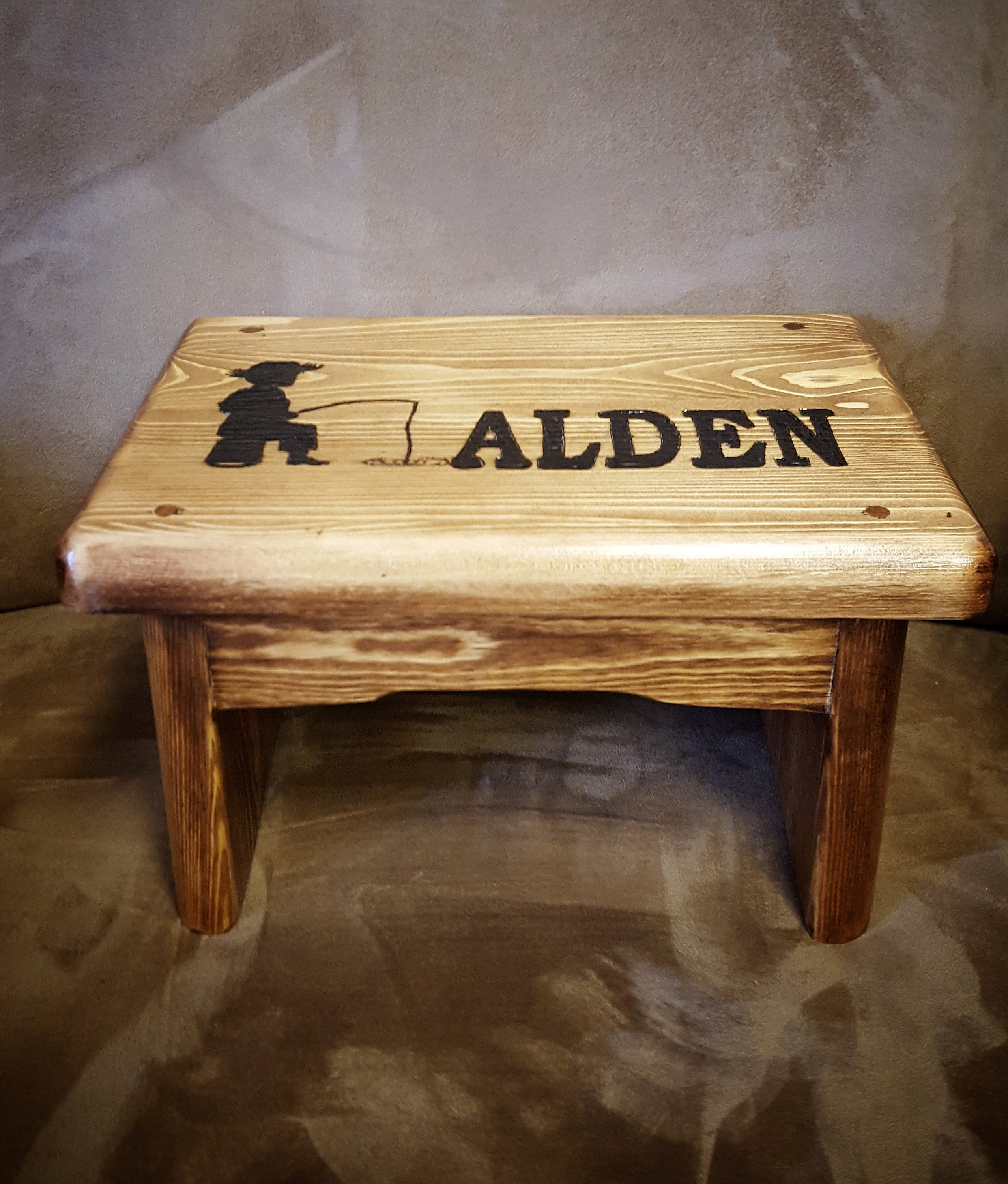 Country Boy Personalized Step Stool Kids Personalized