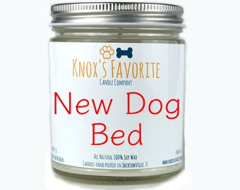 New Dog Bed Candle, Scented Candle, Gift for Dog Lover, Dog Gift, Dog Mom, Luxury Candle, Gift for Her, Gift for Mom, Gift for Him Dog Gift