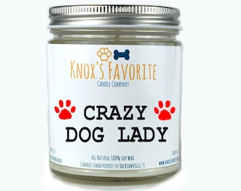 Crazy Dog Lady Gift, Fur Mama Gifts, Dog Mom Gifts Scented Candle Dog Lover Gift Dog Owner Gift Rescue Candle Pet Gift Gifts for Dog Lover