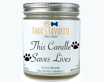Fur Mama Gift, Dog Lover Gift, Scented Candle, Dog Person gift,  Animal Rescue Candle, Dog Candle, Gift for Dog, Gift for Her Gift for Him