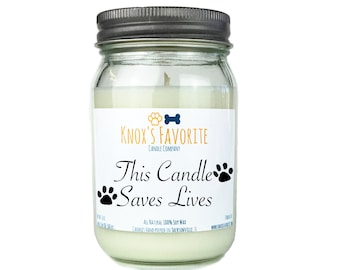 Gifts for Animal Lovers, Scented Candle, Dog Lover Gift, Dog Owner Gift, Pet Gifts, Animal Shelter Candle, Gift for Her Gift for Him
