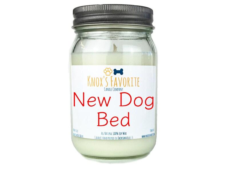 New Dog Bed scented soy 16 oz mason jar candle dog lover gift image 0