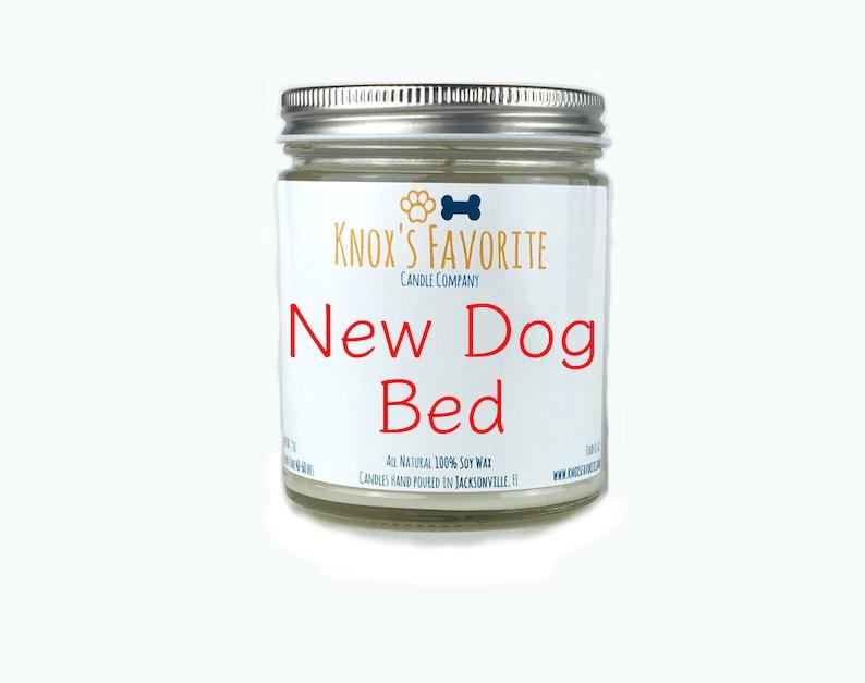 New Dog Bed scented soy 9 oz mason jar candle dog lover gift image 0