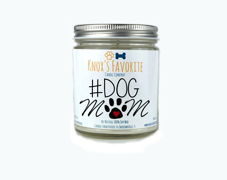 Soy Scented DogMom  9 oz candle dog lover mother's day image 0