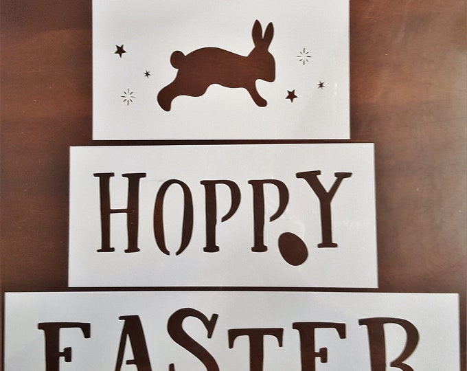 Hoppy Easter 3 pc. Block Stencil - Easter/Spring Stencil