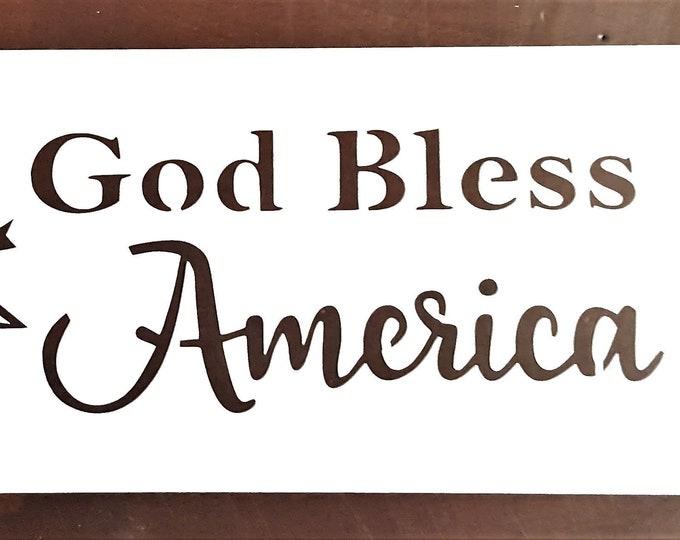 God Bless America Stencil - America/Americana - Stencil Only