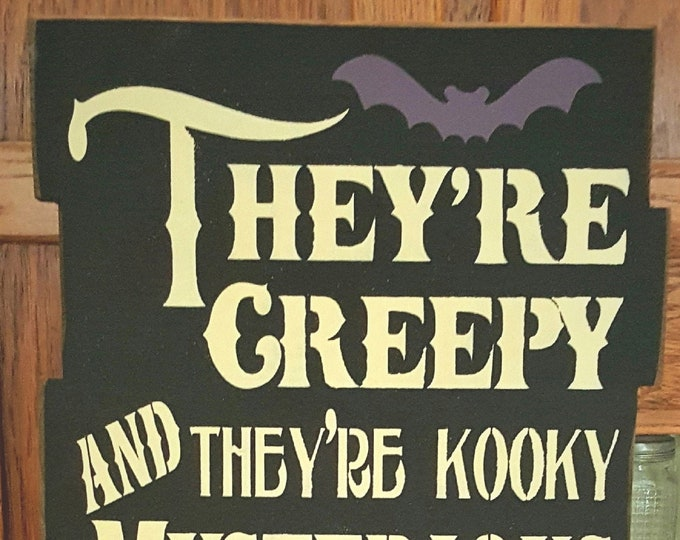 Personalized Large Adam's Family Sign - Personalized/Halloween - Solid Wood Sign