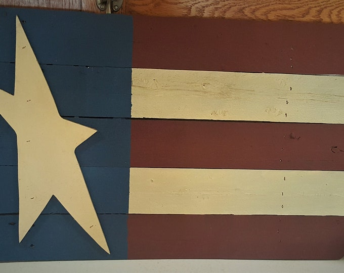 Primitive Large Americana Flag Sign - American Flag