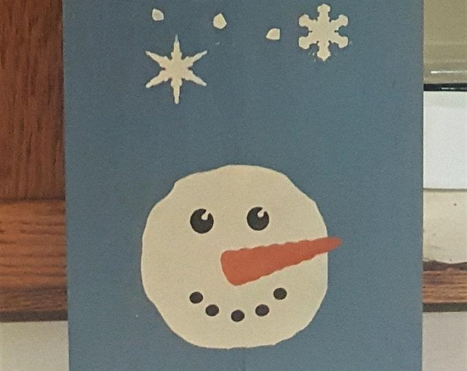 Primitive Let It Snow Sign - Winter/Christmas/Snowman