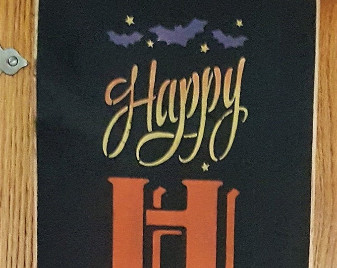 Primitive Tall Happy Halloween Sign - Halloween/Witch/Fall
