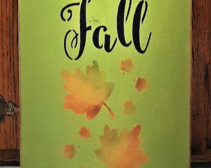 Primitive Tall Welcome Fall Sign - Welcome/Fall Leaves/Autumn